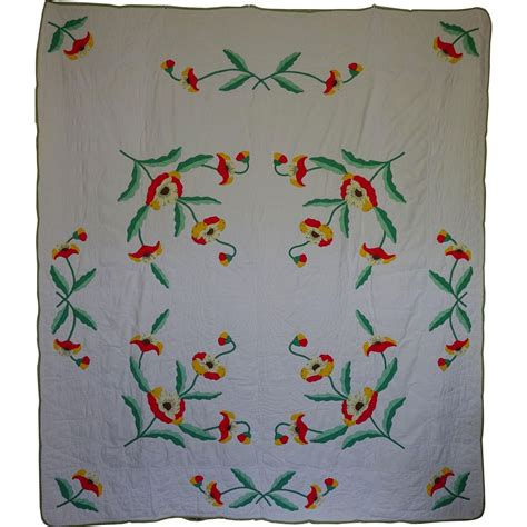 Applique Quilt Kits by Applique Poppy Quilt A Kit Quilt Sale From