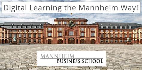 Mba Sustainable Management Mannheim by Mannheim Business School Bietet Ab 1 M 228 Rz Open