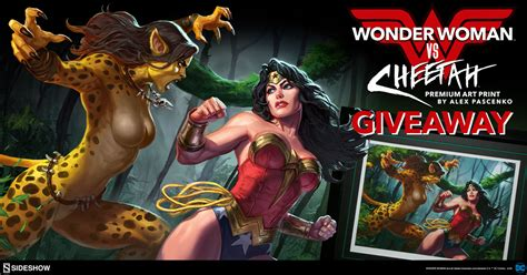 Wonder Woman Giveaway - wonder woman vs cheetah premium art print giveaways sideshow collectibles