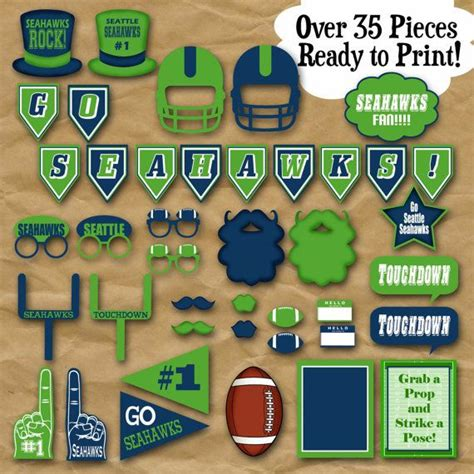 printable hockey photo booth props 17 best images about seahawks on pinterest russell