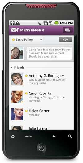 yahoo messenger for android yahoo messenger for android phone
