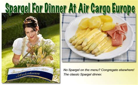 spargel for dinner at air cargo europe