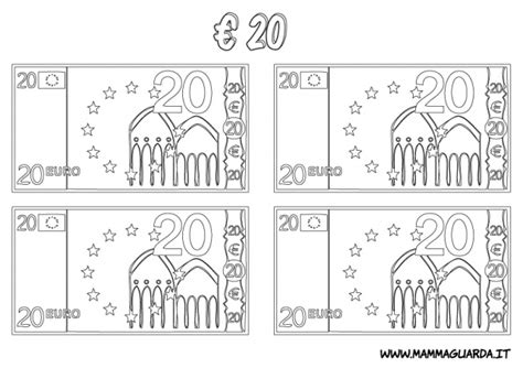 coloring pages euro 20 euro colouring pages