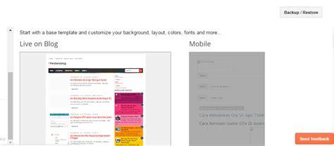cara membuat blog versi mobile cara mengubah dan membuat template blog menjadi sama