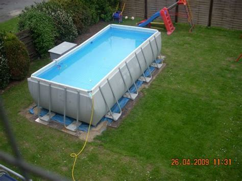 Up Pool Aufbauen by Das Aquapool Schwimmbad Forum Intex Quadra I