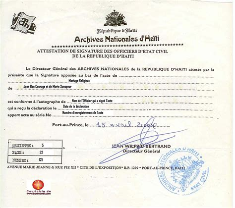 Haitian Birth Certificate Template Marriage Certificate Translation Template Unique Sle Haitian Birth Certificate Translation Template