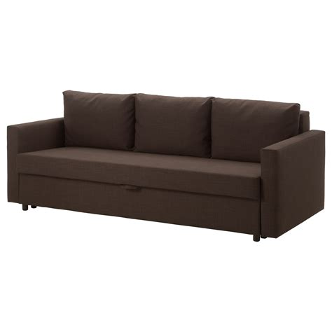 ikeas sofa bed friheten three seat sofa bed skiftebo brown ikea