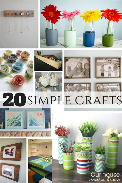 easy crafts to decorate your home 20 simple crafts our house now a home