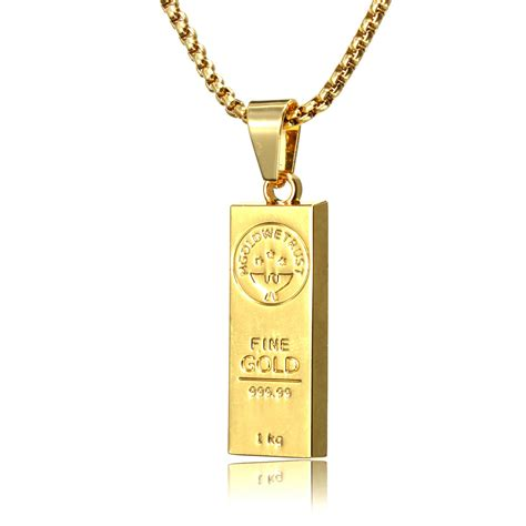18k gold bar hip pop chain necklace jewelry alex nld