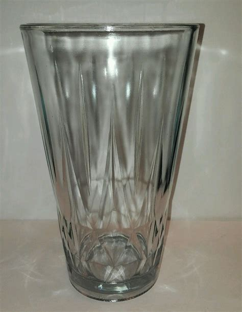 Glass Vase by Vintage Syndicate Sales Inc Large 9 Quot Clear Glass Vase