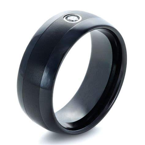 s black tungsten ring with 1354