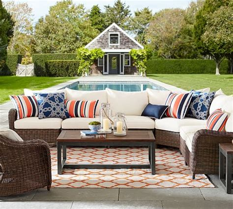 pottery barn outdoor sectional 60 off pottery barn outdoor furniture sale save on sofas