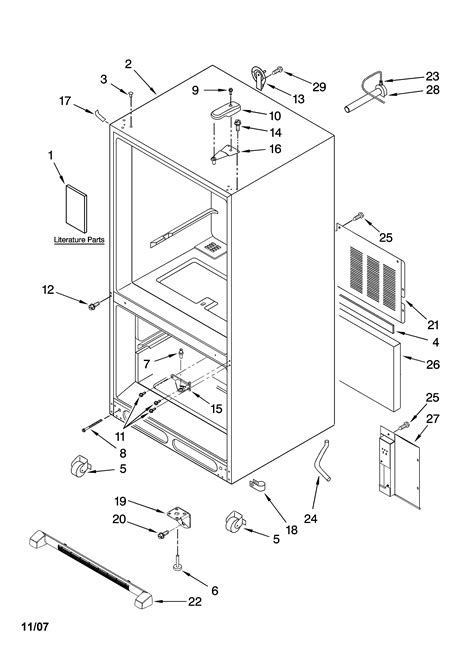 kenmore elite refrigerator diagram kenmore elite bottom mount refrigerator parts model
