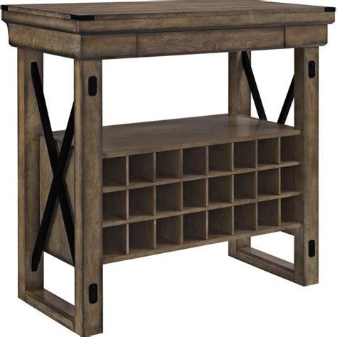 Gray Bar Cabinet Wood Veneer Bar Cabinet In Rustic Gray 5287096pcom