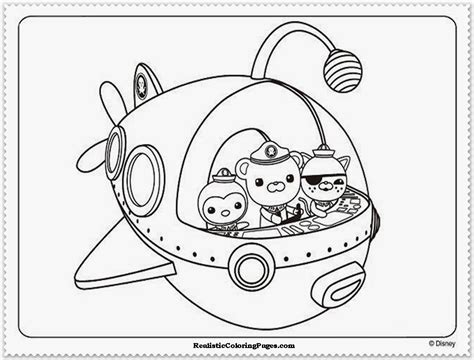 Octonauts Coloring Page octonauts coloring pages realistic coloring pages