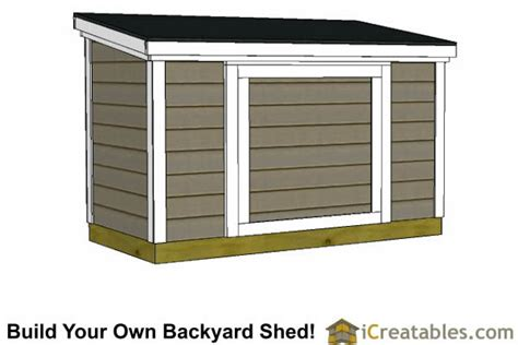 4x8 Lean To Shed by 4x8 Lean To Shed Plans 6