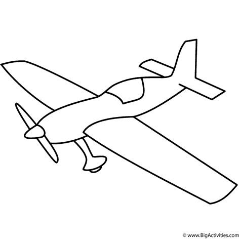 Basic Airplane With Propeller Coloring Page Transportation Basic Coloring Pages 2
