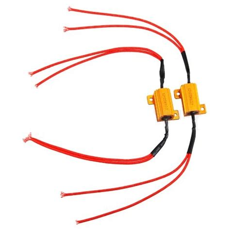 led resistor 2x 25w led indicator turn signals load resistors led techparts