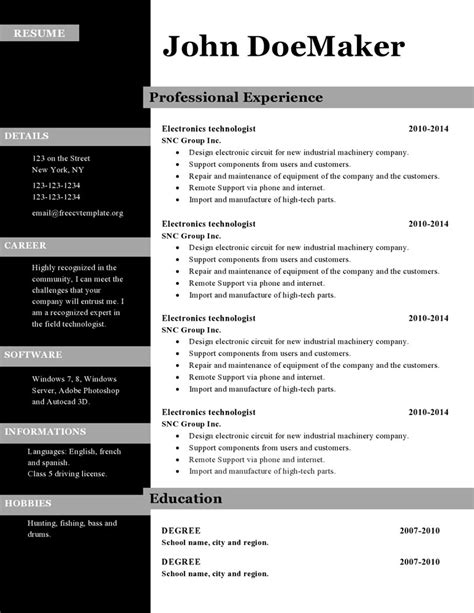 programmer contract template best of sample resume in word format