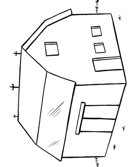 easy barn coloring pages easy coloring pages big barn easy coloring activity page