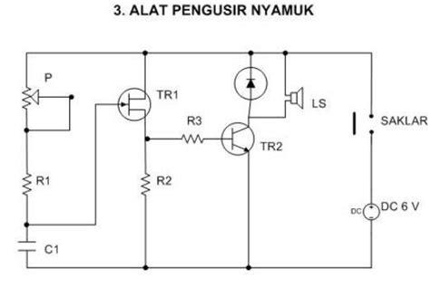 skema rangkaian elektronika kumpulan skema elektronika rangkaian pengusir nyamuk