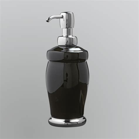 Inter Design Interdesign Lora Black And Chrome Lotion Pump And Black Bathroom Accessories