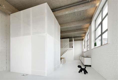 design milk loft a loft with two metallic structures design milk