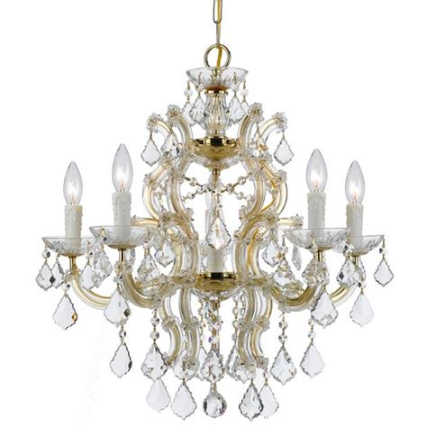 maria theresa gold crystal chandelier in white bedroom crystorama crystorama maria theresa 6 light crystal gold
