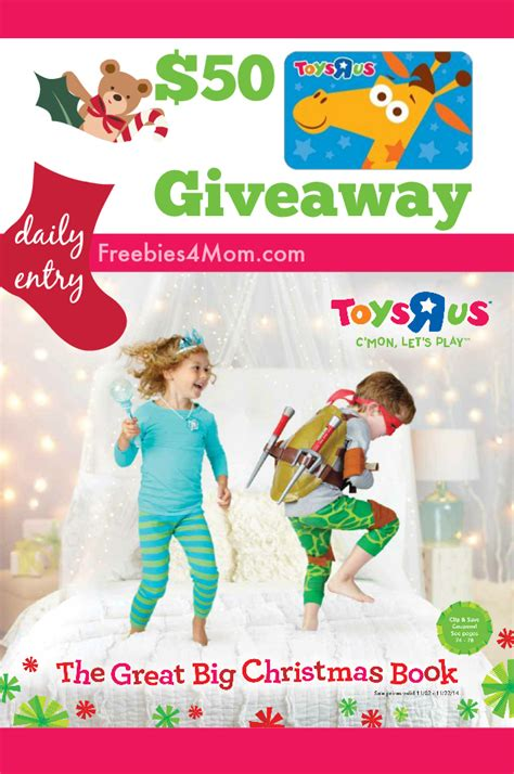 Free Toy Giveaways For Christmas 2014 - 50 toys r us giveaway the great big christmas book