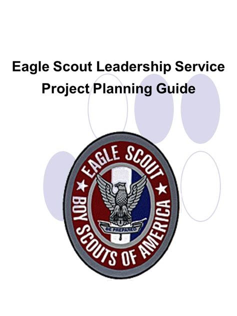 eagle scout eagle scout leadership service project planning guide