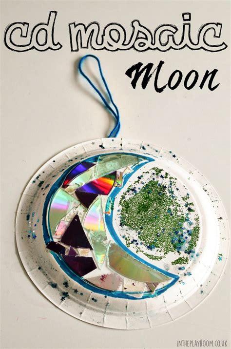 cd mosaic moon craft   playroom