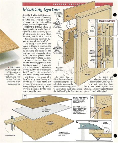 wood drafting table plans fold drafting table plans woodarchivist