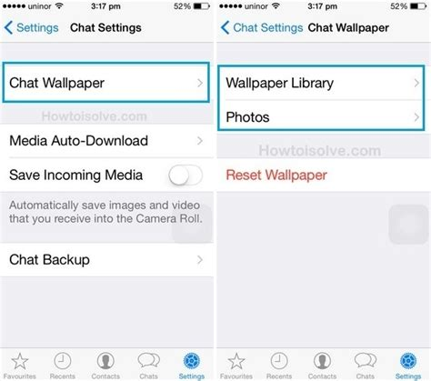 whatsapp chat wallpaper iphone 5 how to change chat wallpaper in whatsapp on iphone