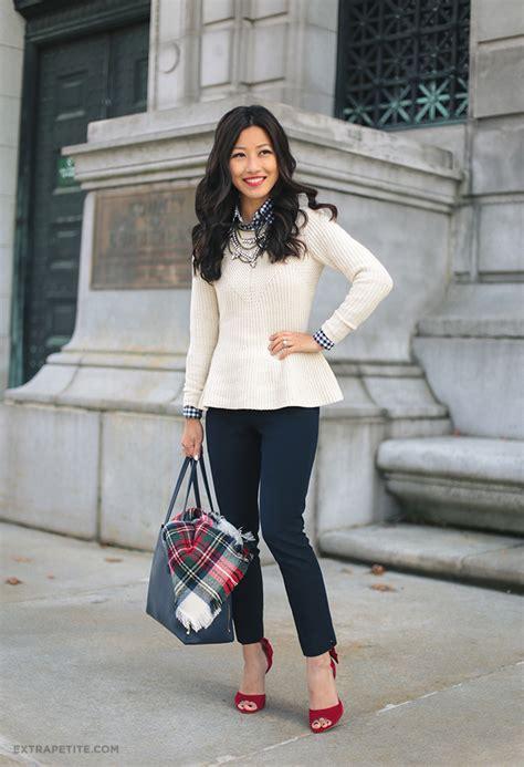 Mazaya Blouse Model 32 11 peplum sweater bow heels