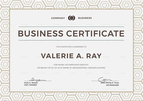 Business Certificate Design Template In Psd Word Illustrator Indesign Business License Template Word