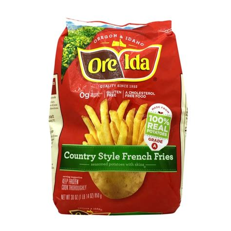 country style fries ore ida country style fries seasoned potatoes with