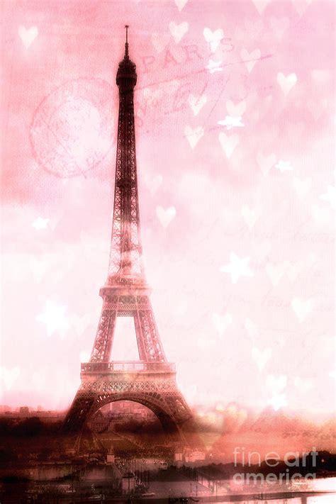 paris pink eiffel tower shabby chic paris dreamy pink