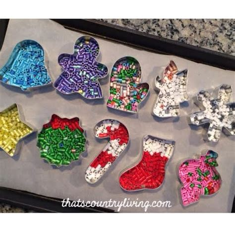 perler bead cookie cutter ornament just 10 minutes in 400