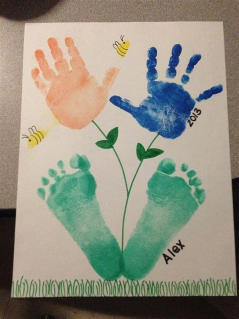 footprint crafts for and footprint craft ideas