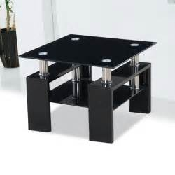 Black Gloss Side Table Kontrast Black Glass Side Table With High Gloss Legs 18205