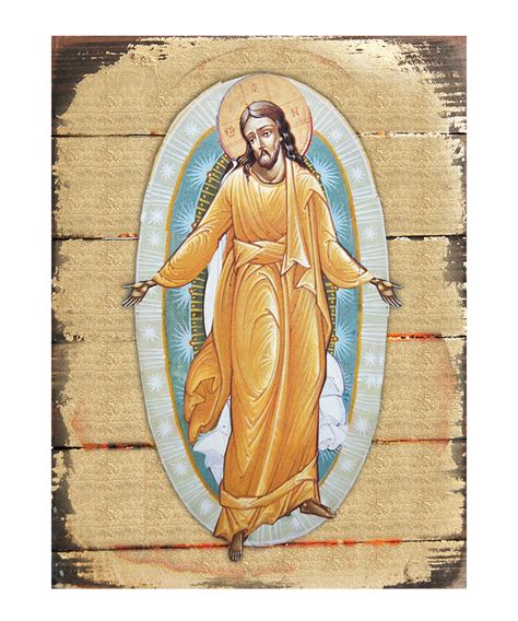 Blessings Unlimited Home Decor by Resurrection Icon Wall Art On Wood