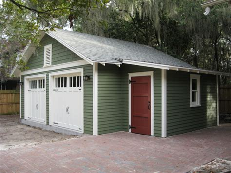 Car Garage Shed by Two Car Bungalow Garage In Gainesville Fl Craftsman Garage And Shed Other Metro By