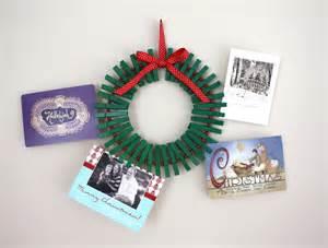 christmas card wreath tutorial