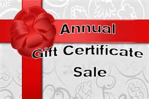 Gift certificate sale 2016 back to bliss