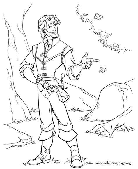 Tangled Flynn Ryder Coloring Page Rapunzel And Flynn Coloring Pages