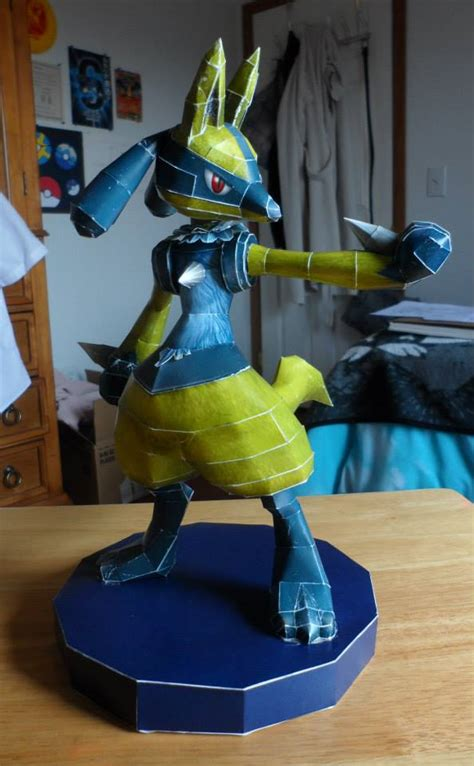 Lucario Papercraft - shiny lucario papercraft by whiteshiningdragon on deviantart