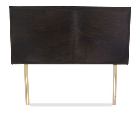 Cowhide Headboards by Darwin 4ft 6 Genuine Brown Cowhide Headboard Special Offer