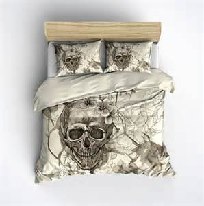 King Size Bedding With Skulls Featherweight Skull Bedding Sugar Skull And By Inkandrags