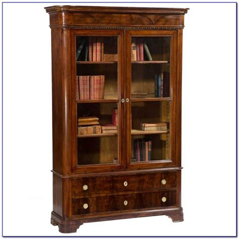 Antique Bookcases With Glass Doors Antique White Bookcase With Glass Doors Bookcase Home Decorating Ideas 4lyza04opk