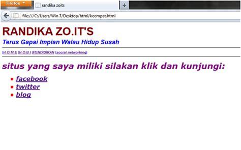 membuat website sederhana dengan notepad membuat web html sederhana menggunakan notepad randika